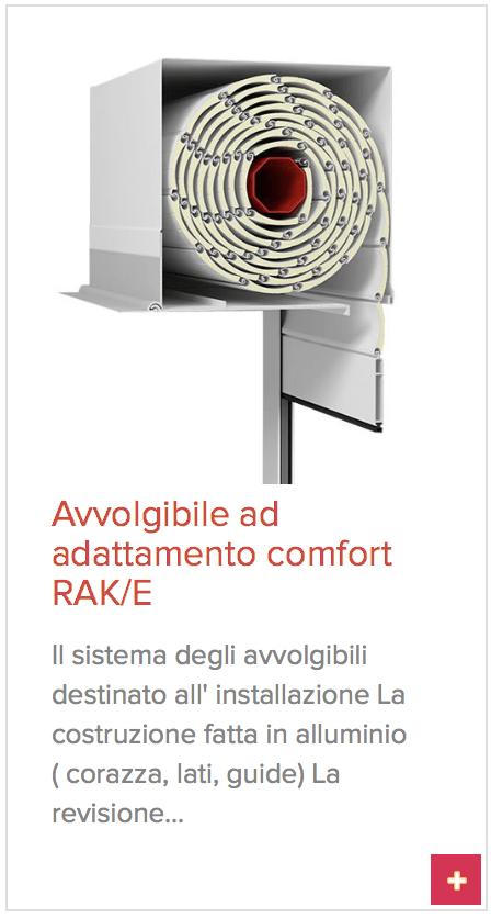 avvolgibile ad adattamento RAK/E